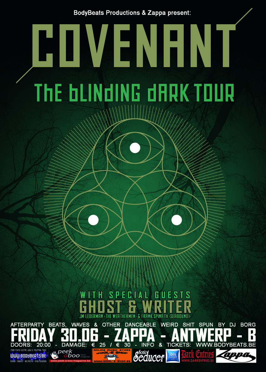 NEWS Ghost & Writer confirmed as support for the exclusive Covenant show in Antwerp!