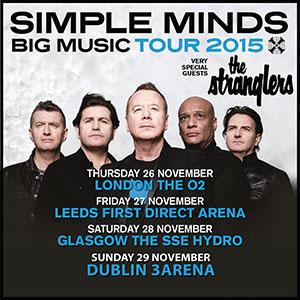 02/12/2015 : SIMPLE MINDS + THE STRANGLERS - Glasgow, SSE Hydro (28/11/2015)