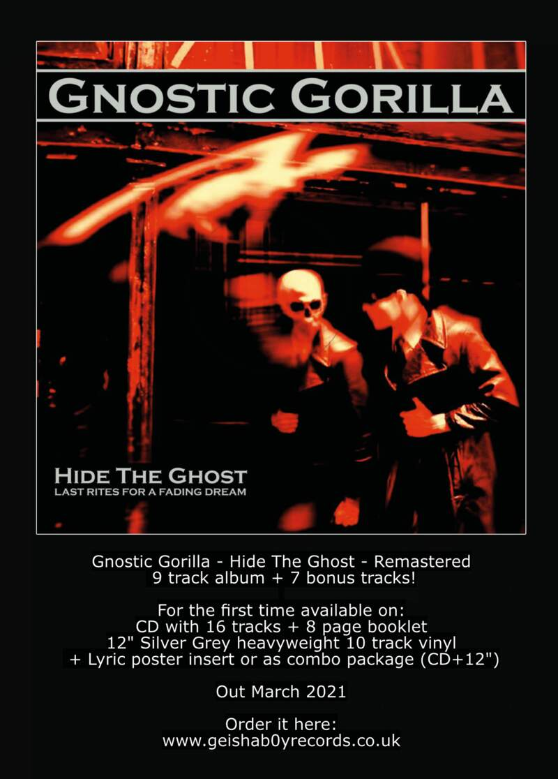 Gnostic Gorilla - Hide The Ghost (CD/LP) - Out now on Geishab0y Records!