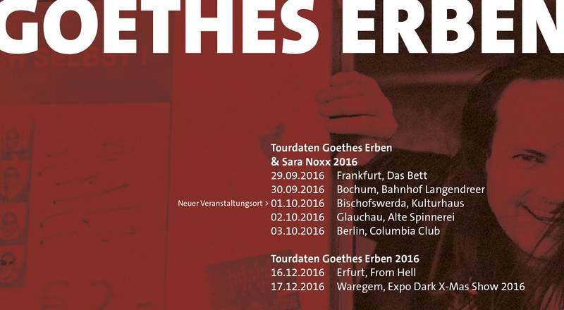 NEWS Goethes Erben tour 2016