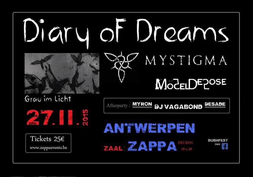 30/11/2015 : DIARY OF DREAMS - Antwerp, Zappa (27/11/2015)