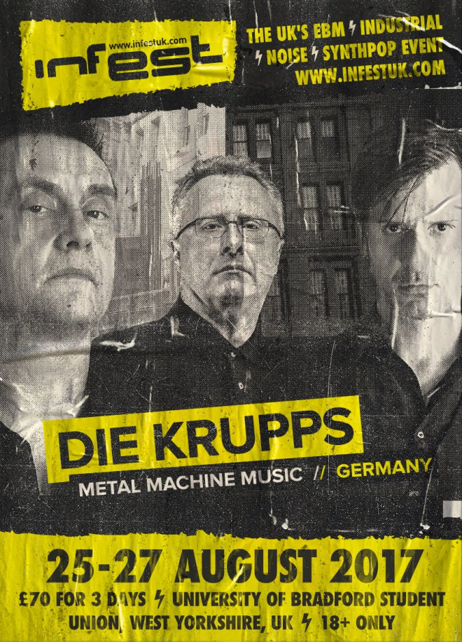 NEWS INFEST 2017 LINE-UP COMPLETE with DIE KRUPPS & They Called him Zone!