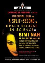 08/03/2015 : INTERNAL SUN, CRASH COURSE IN SCIENCE + SIMI NAH - Casino St;-Niklaas 28/2/2015
