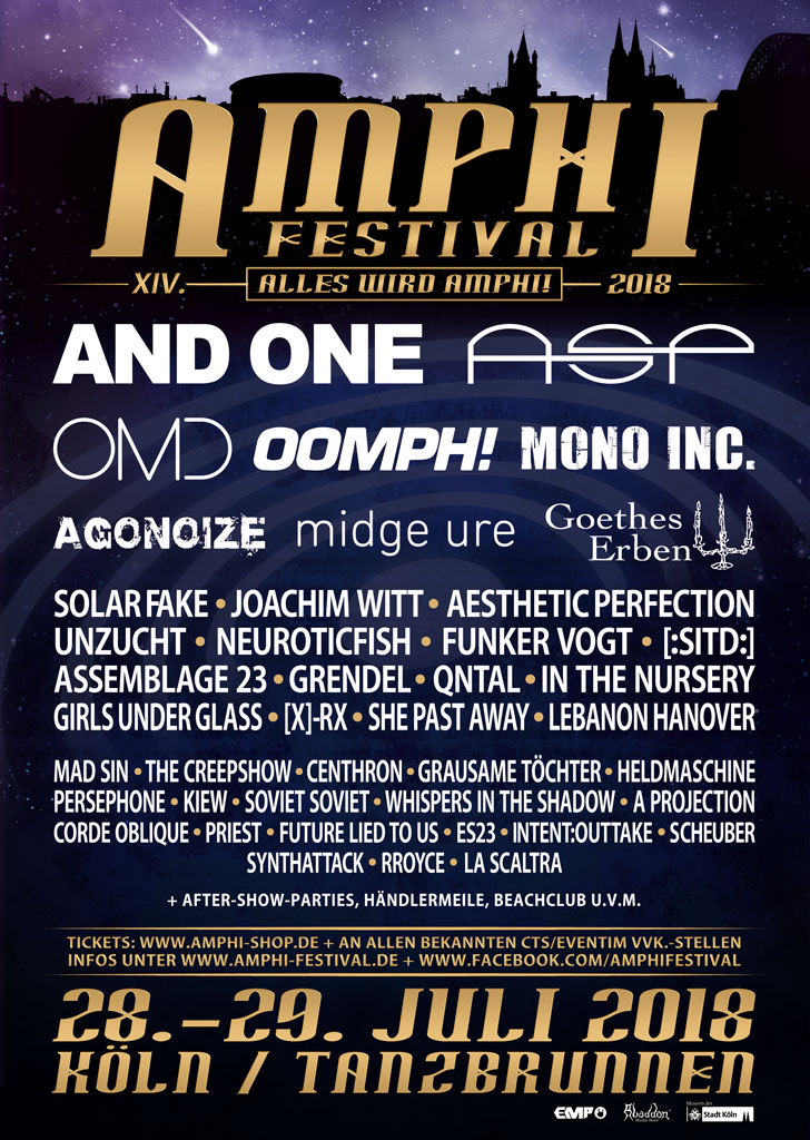 NEWS JOACHIM WITT, QNTAL, IN THE NURSERY, RROYCE & MANY OTHERS TO COMPLETE THE AMPHI LINE-UP 2018