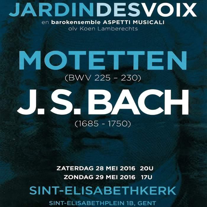 10/12/2016 : JOHANN SEBASTIAN BACH - Motetten (JardinDesVoix & Barokensemble Aspetti Musicali o.l.v. Koen Lamberechts, Gent, Sint-Elisabethkerk, 28/05/2016)