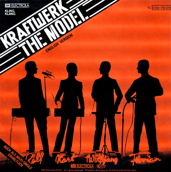 NEWS On this day, 38 years ago, the Kraftwerk single 'The Model' reached the Top 1 of the UK Singles Chart!