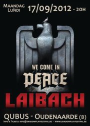 18/09/2012 : LAIBACH - Review of the concert 'We Come In Peace' in Oudenaarde on 17th September 2012