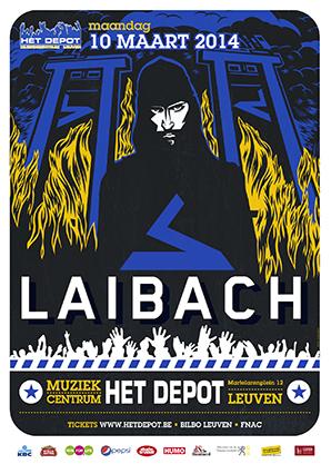 12/03/2014 : LAIBACH - Laibach - Spectre Tour @ Depot - Leuven - B (10.03.2014)