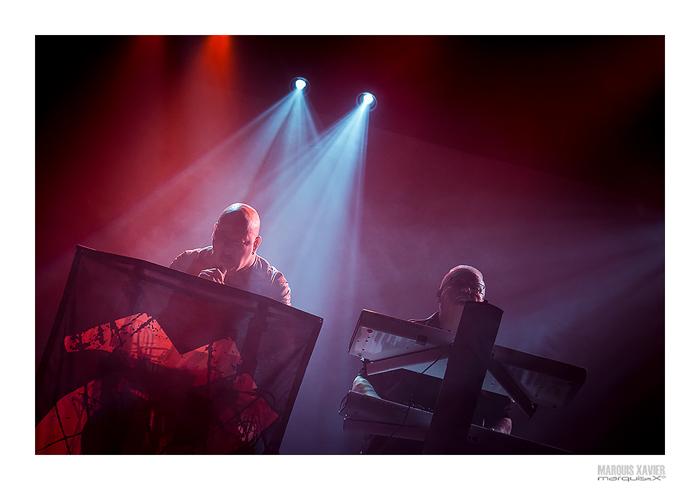 photoshoot LEAETHER STRIP Dark X-mas Show 2015, Expo Waregem, Belgium