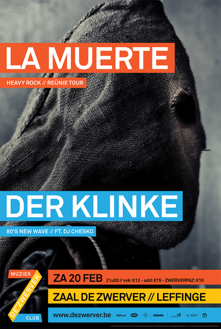 08/12/2016 : DER KLINKE/LA MUERTE - Leffinge, Zaal De Zwerver (20/02/2016)