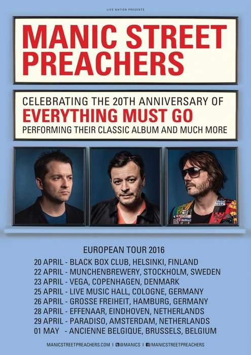 09/12/2016 : MANIC STREET PREACHERS - Brussels, AB (01/05/2016)