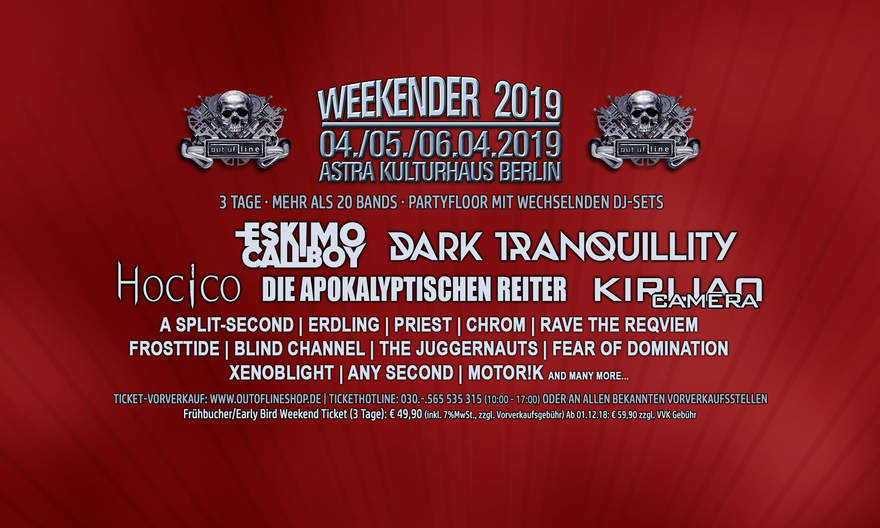 NEWS New band announcement for Berlin's Of Line Weekender 2019!