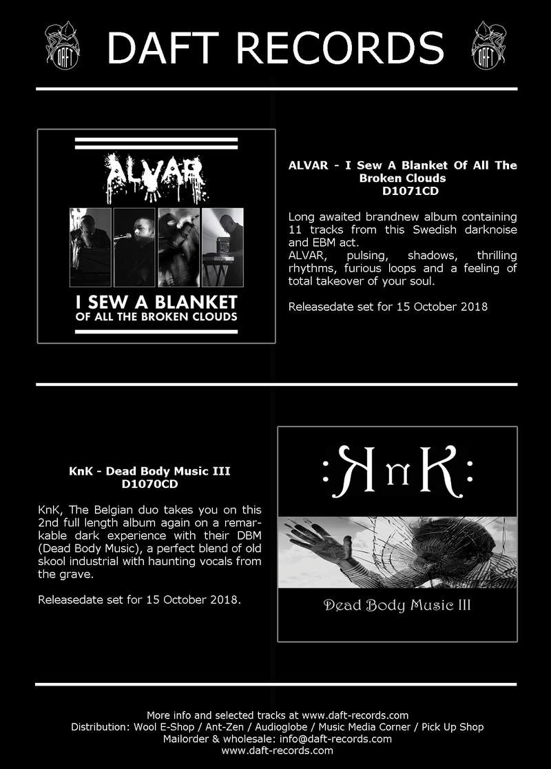 New Daft Records Releases - New albums by ALVAR + Knk
