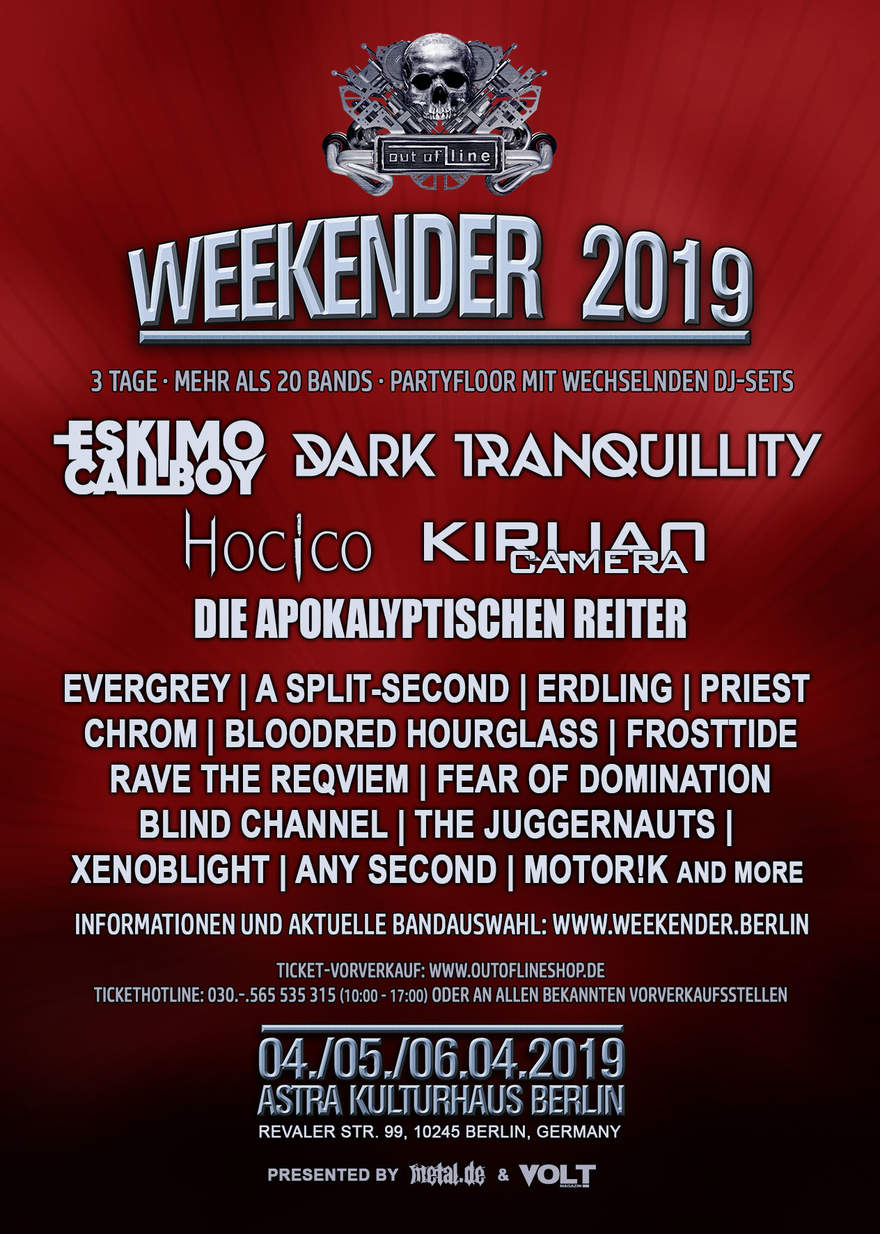 NEWS Out Of Line weekender line-up almost complete!