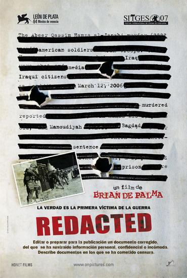 30/07/2015 : BRIAN DE PALMA - Redacted