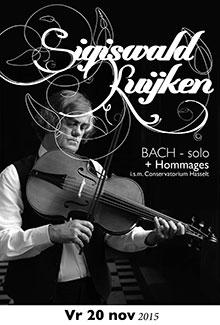 24/11/2015 : SIGISWALD KUIJKEN - Bach Solo (Hasselt, KC België, 20/11/2015)