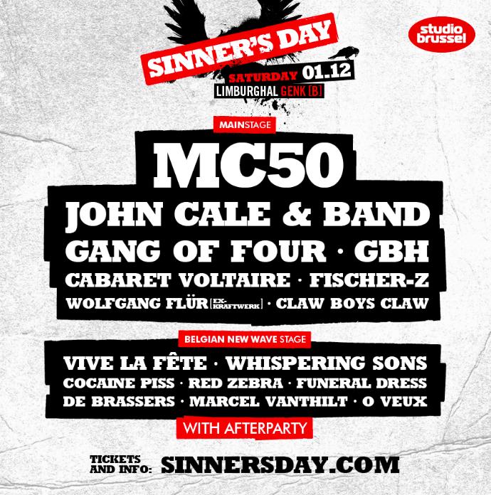 NEWS Sinner's Day 2018 announces full line-up!