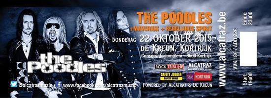 25/10/2015 : THE POODLES - Kortrijk, De Kreun (22/10/2015)