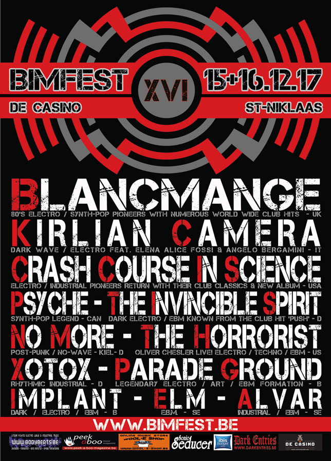 NEWS This Friday the renowned Belgian Independent Music Festival 2017 (BIMFEST XVI) will kick-Off!