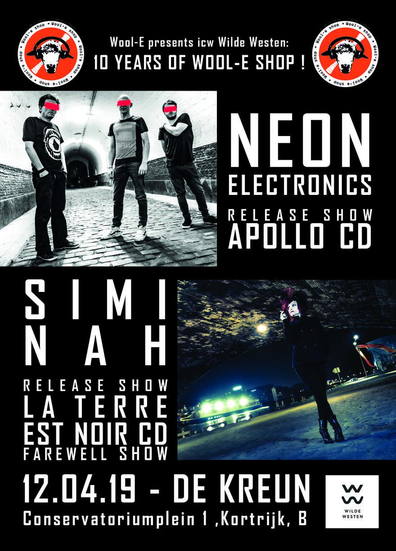 NEWS Tomorrow! Double concert Neon Electronics + Simi Nah - Win a free album!