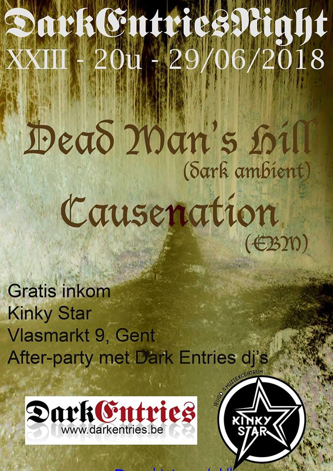 NEWS Tonight! Dark Entries Night @ Kinky Star with Dead Man's Hill & Causenation!