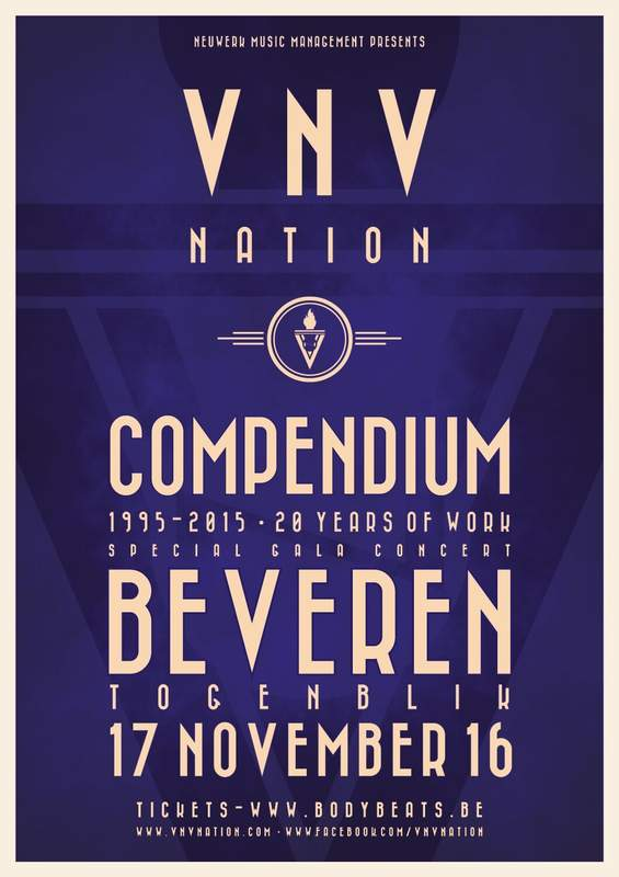 NEWS VNV Nation presents its Compendium-tour in Belgium.