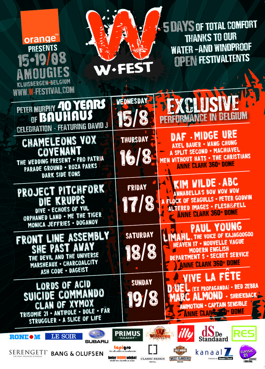 NEWS W-festival 2018 from 15th to 19th August.