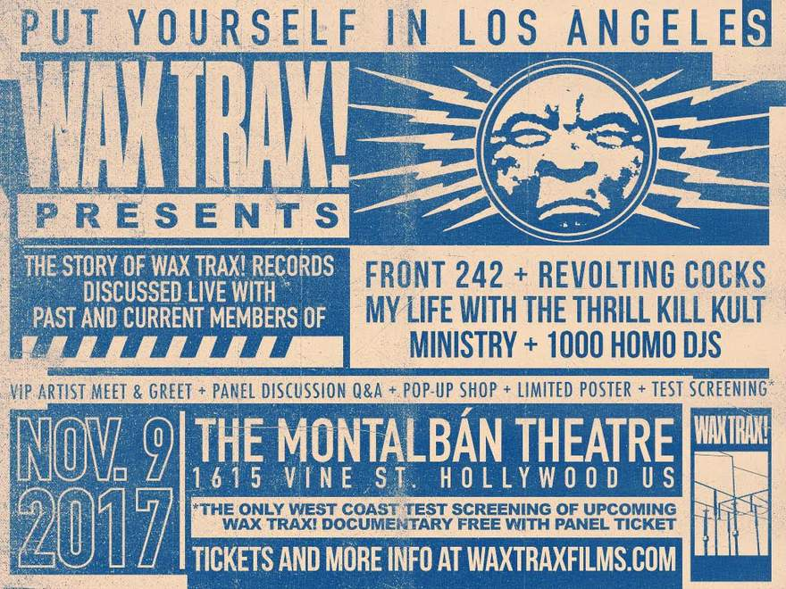 NEWS WAX TRAX! EXPANDS MUSIC DOCUMENTARY WITH SO-CAL EVENT