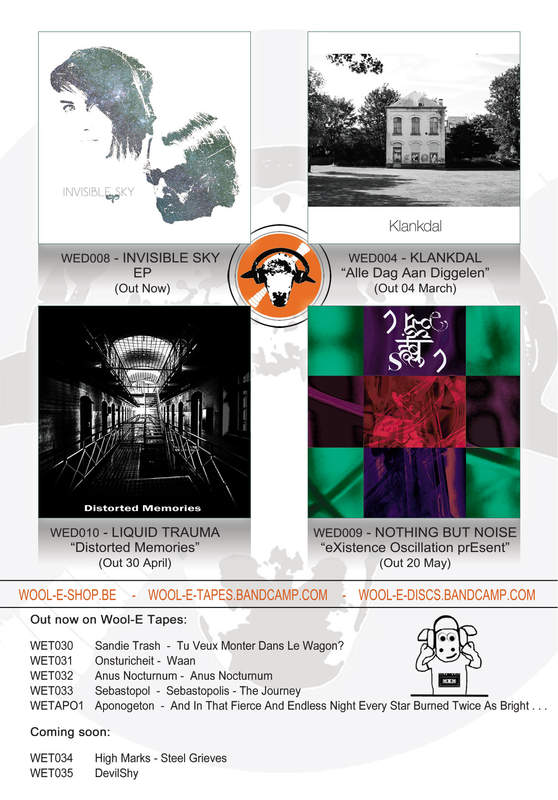 Wool-E Discs presents new releases: Invisible Sky - Klankdal - Liquid Trauma - Nothing But Noise