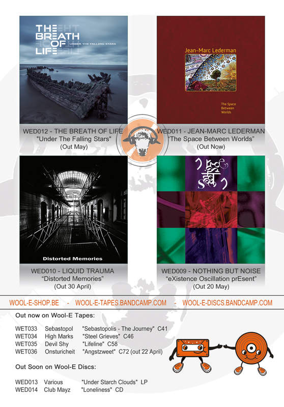 Wool-E Discs presents new releases: The Breath Of Life - Jean-Marc Lederman - Liquid Trauma - Nothing But Noise