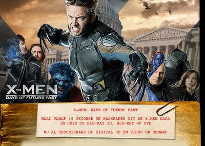 NEWS X-Men: Days Of Future Past on DVD and Blu-ray