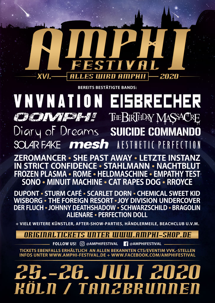 NEWS AMPHI FESTIVAL 2020 releases third band wave with Mesh, Zeromancer & many more