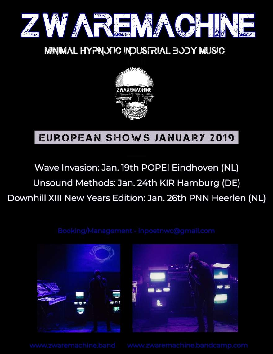 NEWS Zwaremachine are heading over to Europe for 3 dates in January!