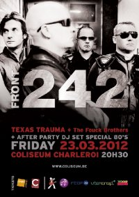 CD FRONT242 At Coliseum in Charleroi with Texas Trauma and Fouck Brothers